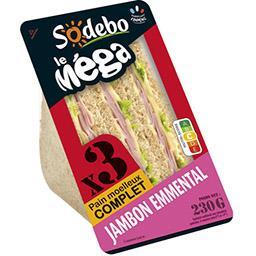 Le Méga - Sandwich jambon emmental pain complet