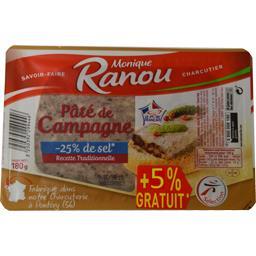 Monique Ranou Pâté de campagne sel réduit la barquette de 180 g
