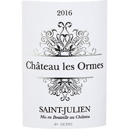 Saint-Julien Château Les Ormes vin Rouge 2016