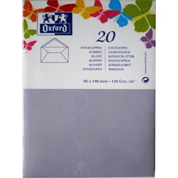 Oxford Oxford Enveloppe 9x14 120 g parme gommée patte pointue de visite le lot de 20
