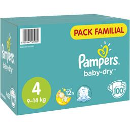 Pampers Pampers Baby-dry, couches taille 4, 9-14kg La boite de 100 couches