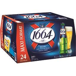 1664 1664 Bière Premium les 24 bouteilles de 25 cl - Maxi format