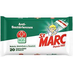 St Marc St Marc Serpillières jetables anti bactériennes le paquet de 20
