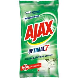 Ajax Lingettes Optimal 7 cuisine & surfaces grasses le paquet de 50