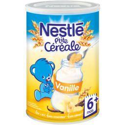 Nestlé Nestlé Bébé P'tite Céréale - Céréale vanille, 6+ mois la boite de 400 g