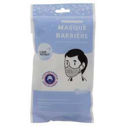 Clear Protect Clear Protect Masques en tissu blanc adultes garantis 20 lavages le lot de 6 masques