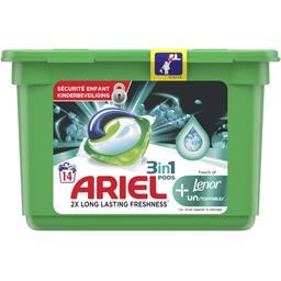 Ariel Ariel Pods 3en1 unstoppables touche de lenor La boîte de 14 capsules