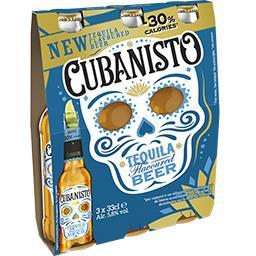 Cubanisto Cubanisto Bière aromatisée Téquila réduit en calories les 3 bouteilles de 33 cl