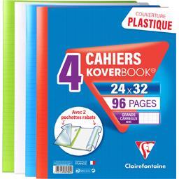Clairefontaine Cahier Koverbook piqure avec rabats 240x320 coloris ...