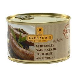 Jean Larnaudie Jean Larnaudie Véritables saucisses de Toulouse aux lentilles la boite de 410 g