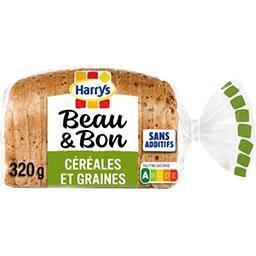 Harry's Harrys Beau & Bon, pain de mie à la farine de blé, céréales et graines le sachet de 320 gr