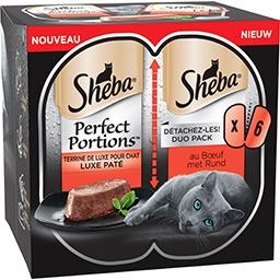 Sheba Sheba Perfect portions - terrine de boeuf pour chat adulte les 6 barquettes de 37,5g