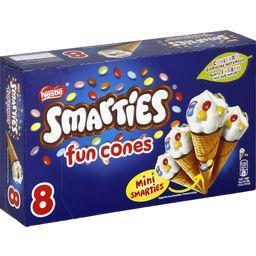 Smarties Smarties Mini Fun Cones la boite de 8 - 312 g