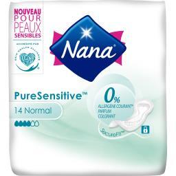 Nana Nana Serviette hygiénique Pure Sensitive normal le paquet de 14