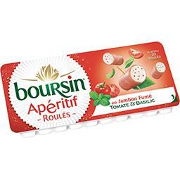 Boursin Boursin Apéritif - Roulés au jambon fumé tomate & basilic le plateau de 20 roulés - 100 g