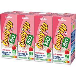 Candia Candia Candy'Up - Boisson lactée goût fraise Bio les 4 brique de 20 cl