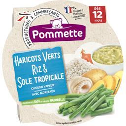 Haricots verts riz & sole tropicale, dès 12 mois
