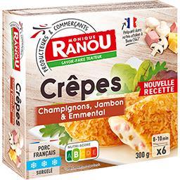 Crêpes champignons jambon & Emmental