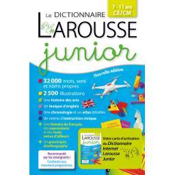 Larousse junior, 7/11 ans, CE/CM  avec carte d'activation