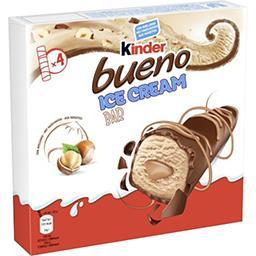 Kinder Kinder Glace barre lait et chocolat La boite de 4 glaces de 45ml