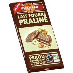 Chocolat au lait de Pérou fourré praliné BIO