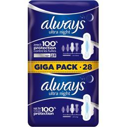 Ultra - night - t3 - serviettes hygiéniques