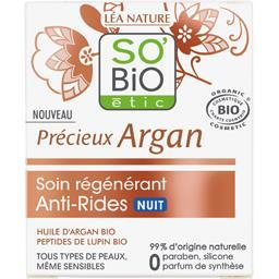 SO'BiO étic So'bio Etic Précieux Argan - Soin régénérant anti-rides nuit le pot de 50 ml