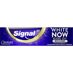 Signal Signal Signal White Now Dentifrice blancheur gold le tuble de 75ml
