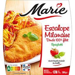 Marie Marie Escalope milanaise dinde 100% filet spaghetti la barquette de 300 g