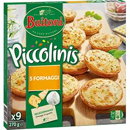 Buitoni Buitoni Piccolinis - Mini pizzas 3 fromages les 9 mini pizzas de 30 g