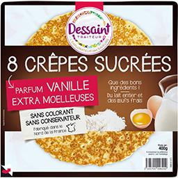 Crêpes sucrées parfum vanille