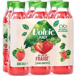 Volvic Volvic Juicy - Boisson à la fraise les 6 bouteilles de 50 cl