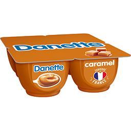 Danone Danone Danette - Crème dessert caramel les 4 pots de 125 g