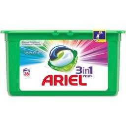 Ariel Ariel Capsules 3en1 pods couleur La boite de 36capsules