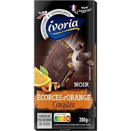 Chocolat noir écorces d'orange confites