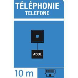 Câble spécial ADSL à paires torsadées, 10 m
