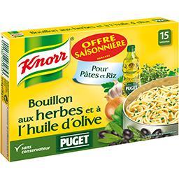 Knorr Bouillon aux herbes et à l'huile d'olive les 15 tablettes de 10 g - offre spéciale