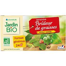 Jardin Bio Jardin bio Infusion Brûleur de Graisses saveur vanille BIO la boîte de 24 sachets, format généreux