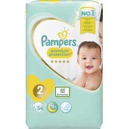 Pampers Pampers Couches premium protection taille2, 4kg-8kg Le paquet de 54