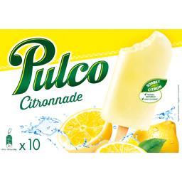 Pulco Bâtonnets Citronnade sorbet citron la boite de 10 - 500 ml