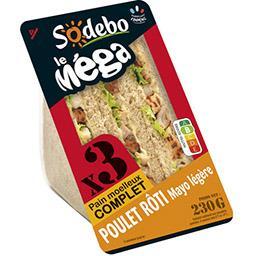 Le Méga - Sandwich poulet rôti mayo légère pain comp...
