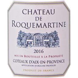 Château Rocquemartin, Coteaux d'Aix en Provence, vin rosé, 2016