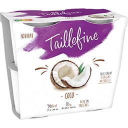 Danone Taillefine Spécialité laitière coco les 4 pots de 115 g