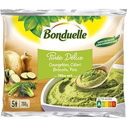 Bonduelle Bonduelle Purée Délice courgettes céleri brocolis pois le sachet de 780 g