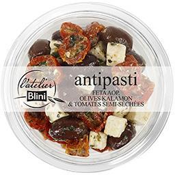 Antipasti, féta tomates confites & olives kalamon