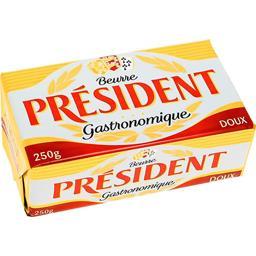 Président Président Beurre Gastronomique doux la plaquette de 250 g