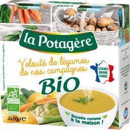 La Potagère La Potagère Velouté de légumes de nos campagnes BIO les 2 briques de 30 cl