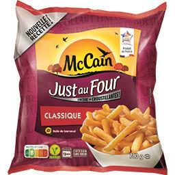 Mc Cain McCain Just au Four - Frites Classique le sachet de 780 g
