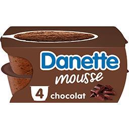 Danone Danone Danette - Mousse chocolat les 4 pots de 60 g