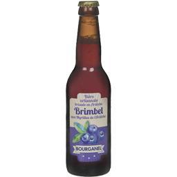 Bière aux myrtilles